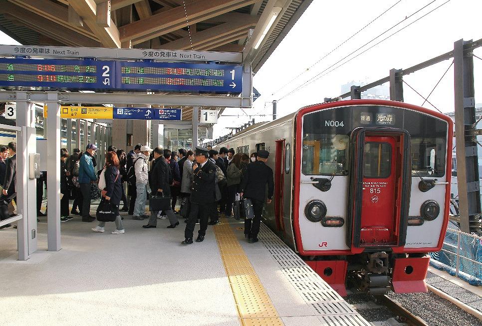 【グラビア】在来線6㎞区間が全面高架化・・・JR九州