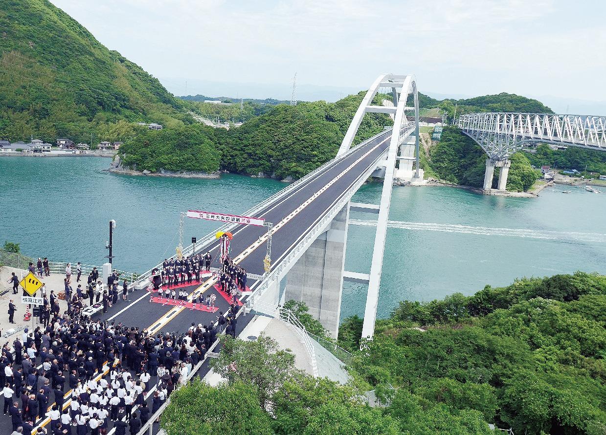 【グラビア】■熊本天草幹線道路「 三角大矢野道路」開通