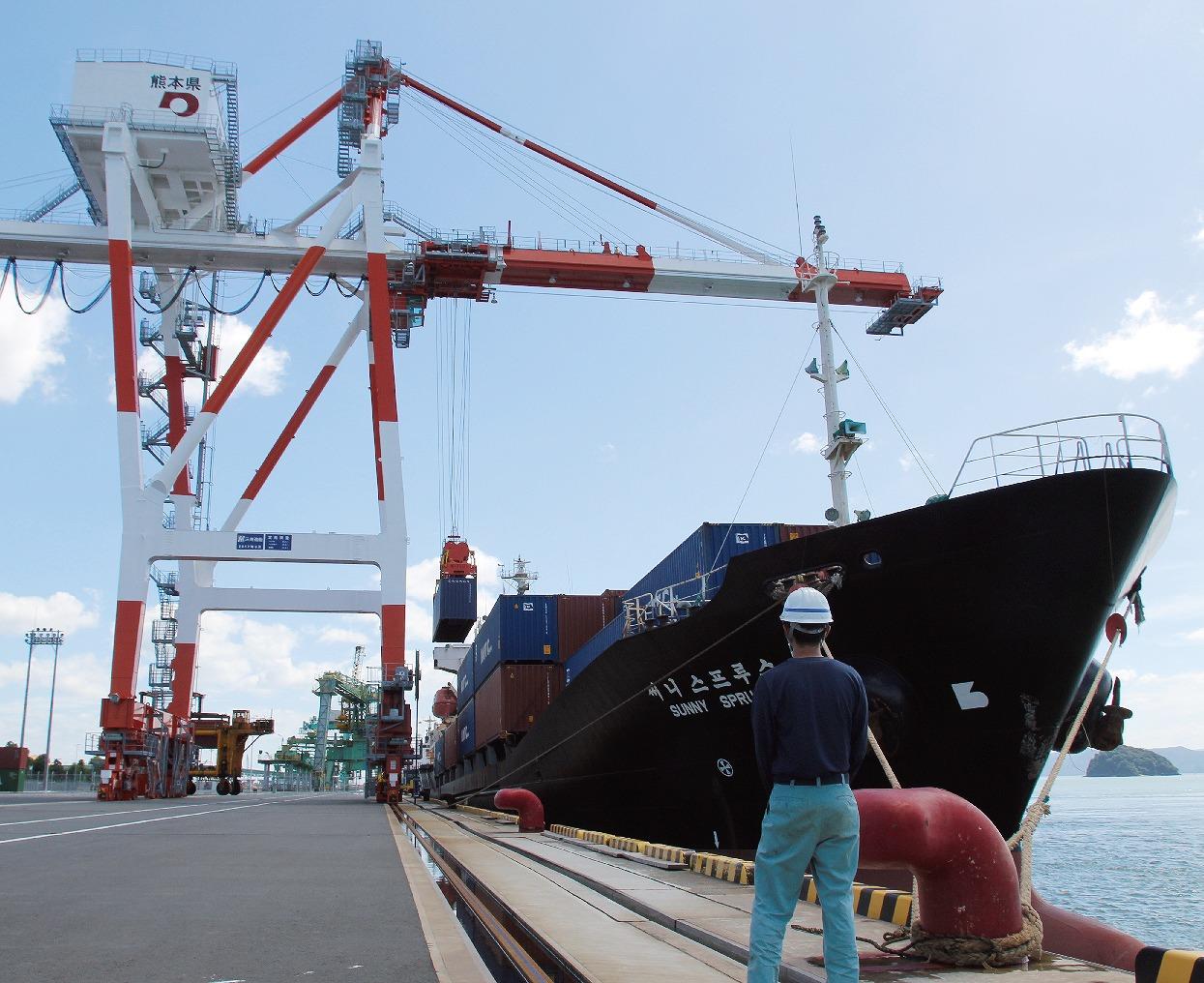 【グラビア】■「国際コンテナ」が過去最高に・・・熊本港と八代港