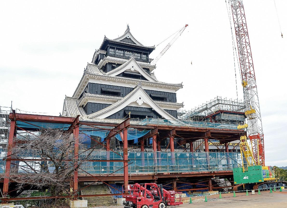 【グラビア】「熊本城」、復旧に向けて歩み「加速」